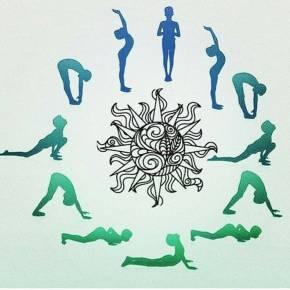 瑜伽拜日式图片