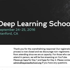硅谷深度学习论坛 - Bay Area Deep Learning School (英文)
