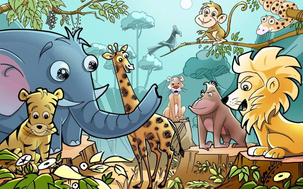 带宝宝畅游音乐世界的动物园