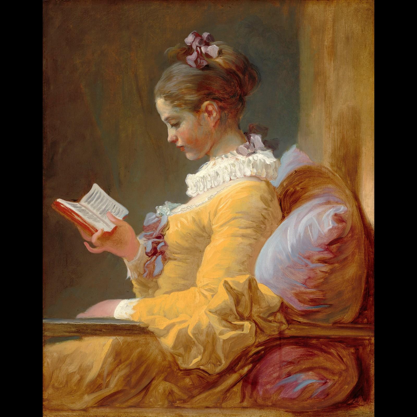 128《读书少女》弗拉戈纳尔(法国)-世界名画鉴赏语音讲解(一百二十八)图片
