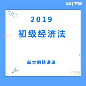 2019初级会计经济法职称考证课程