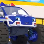 【怪兽车系?#23567;?#24618;兽警车:Monster Police car