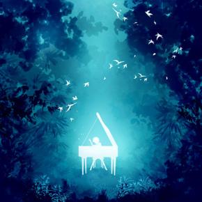 ピアノと自然のハーモニー