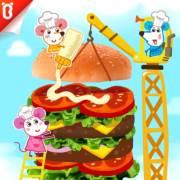【三只老鼠】守护汉堡塔:99层汉堡塔【宝宝巴士故事】